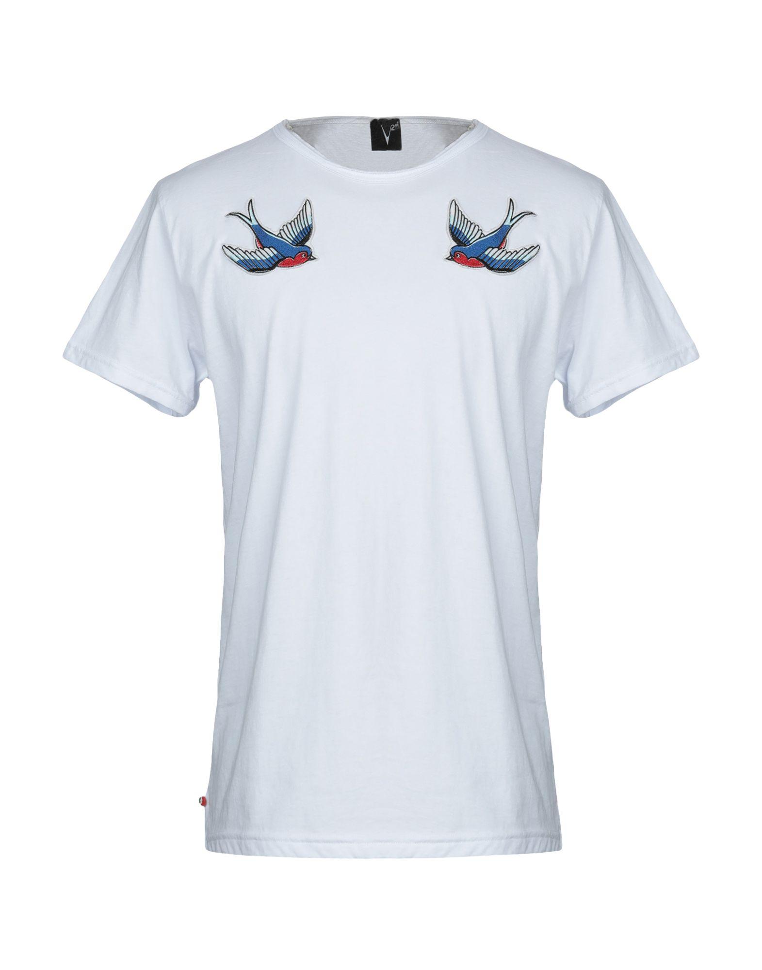 《セール開催中》V2? LIVING CLOTHING メンズ T シャツ ホワイト L コットン 100%