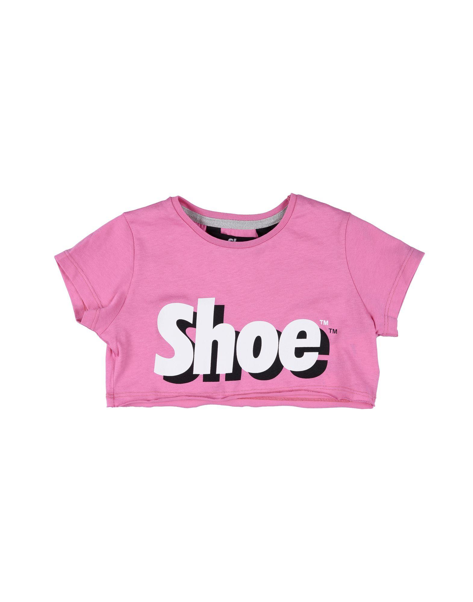 Shoeshine Kids' T-shirts In Fuchsia