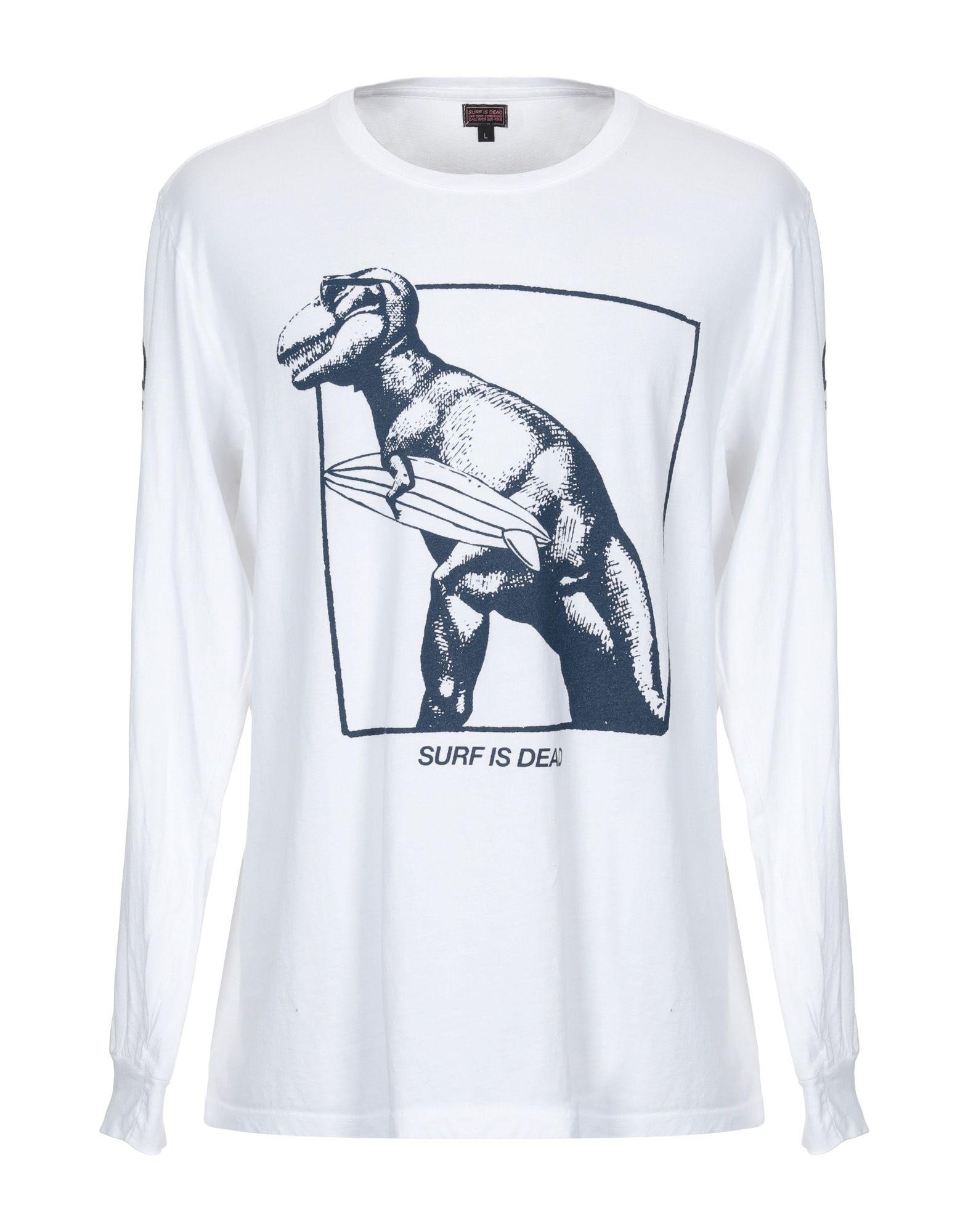 《セール開催中》SURF IS DEAD メンズ T シャツ ホワイト L オーガニックコットン 100%