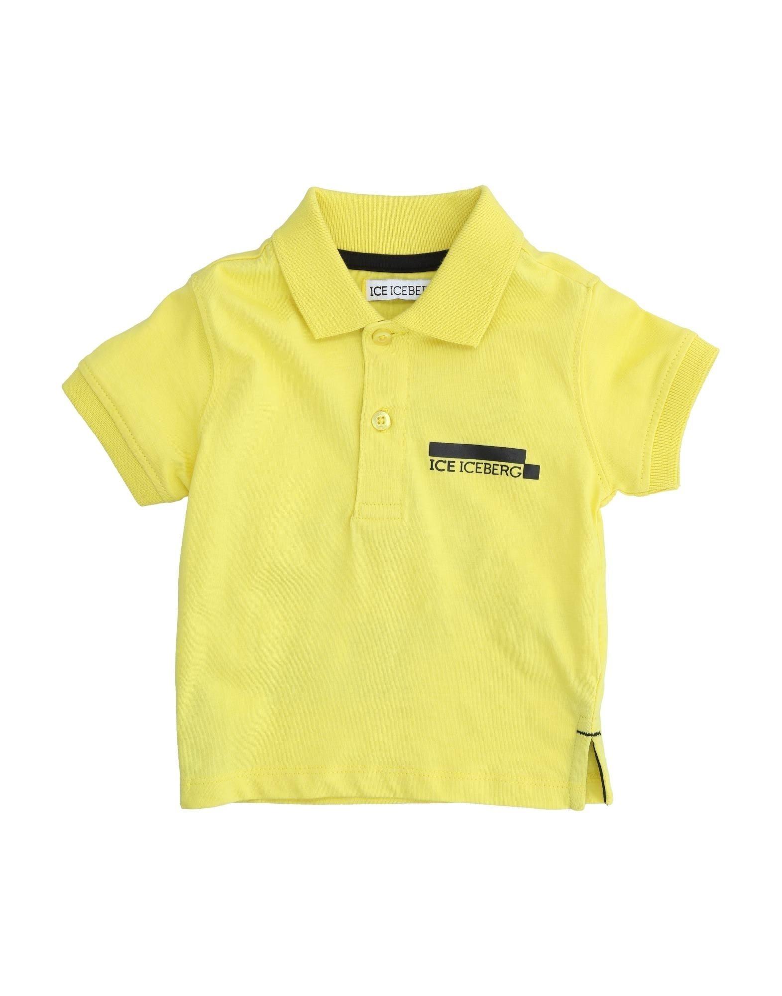 Ice Iceberg Kids' Polo Shirts In Yellow