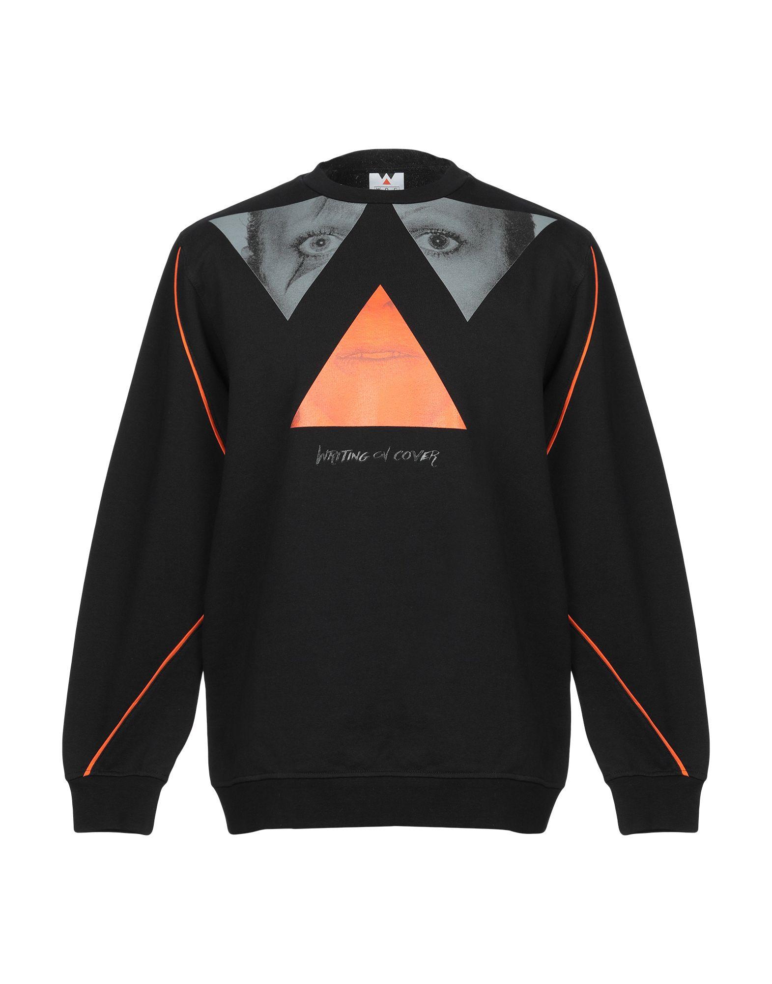 《期間限定 セール開催中》WOC WRITING ON COVER メンズ スウェットシャツ ブラック 0 コットン 100%