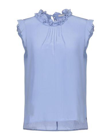 Купить Женскую блузку  небесно-голубого цвета