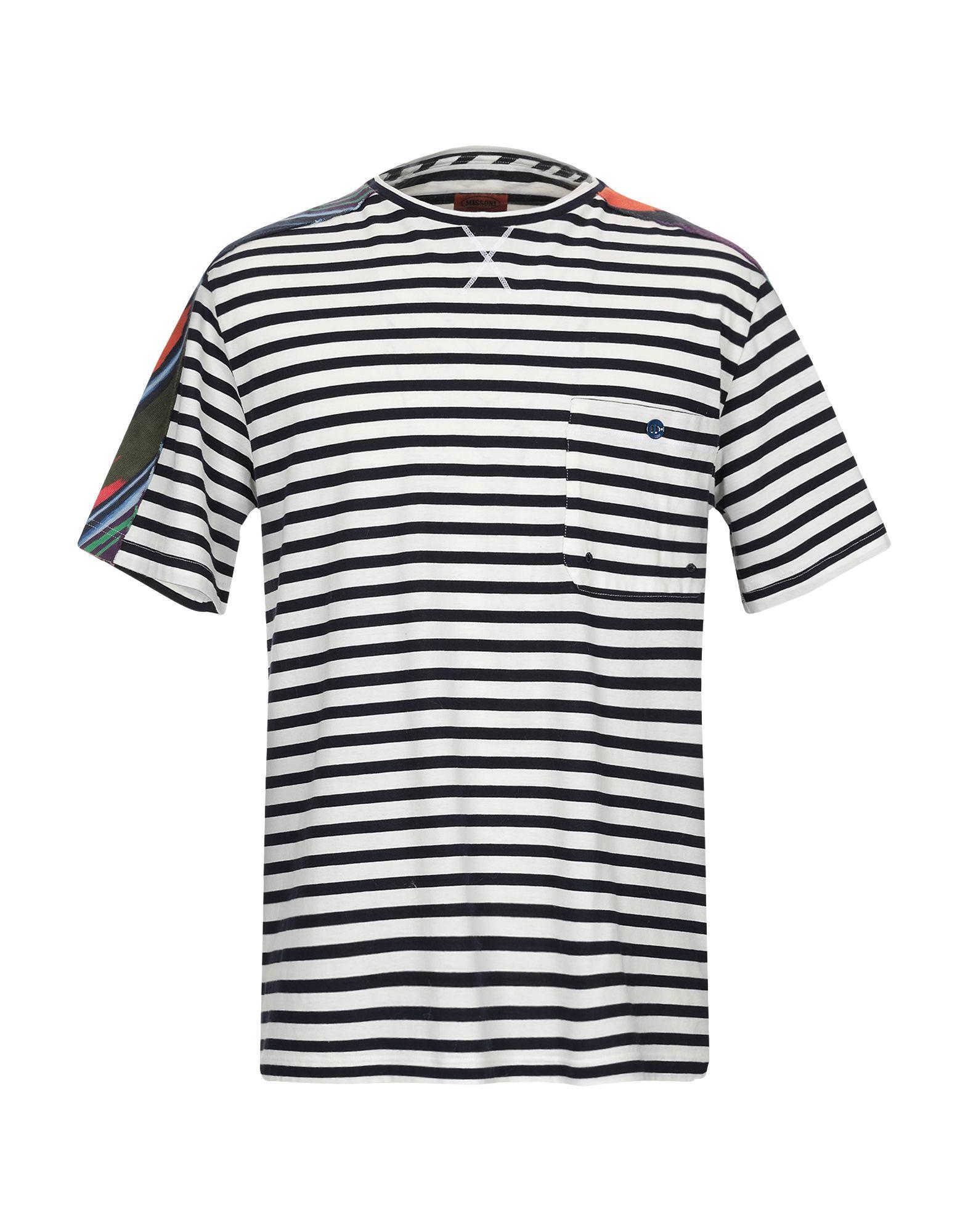 《送料無料》MISSONI MARE メンズ T シャツ ホワイト M コットン 100%