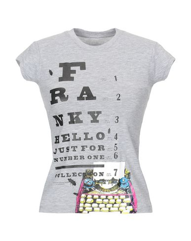 Купить Женскую футболку FRANKY HELLO серого цвета