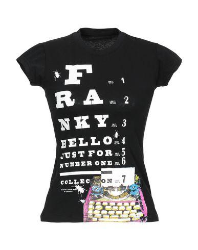 Купить Женскую футболку FRANKY HELLO черного цвета