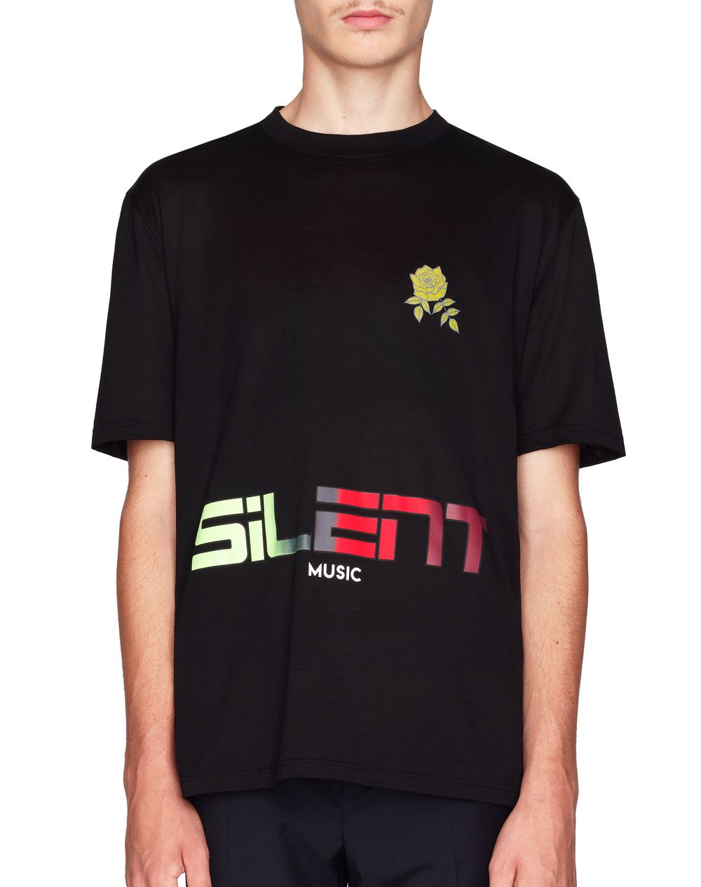 "BLACK ""SILENT MUSIC"" T-SHIRT - Lanvin"