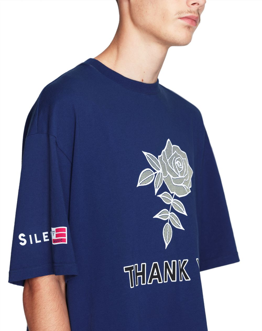 "OVERSIZED ""ROSE"" PRINT T-SHIRT     - Lanvin"