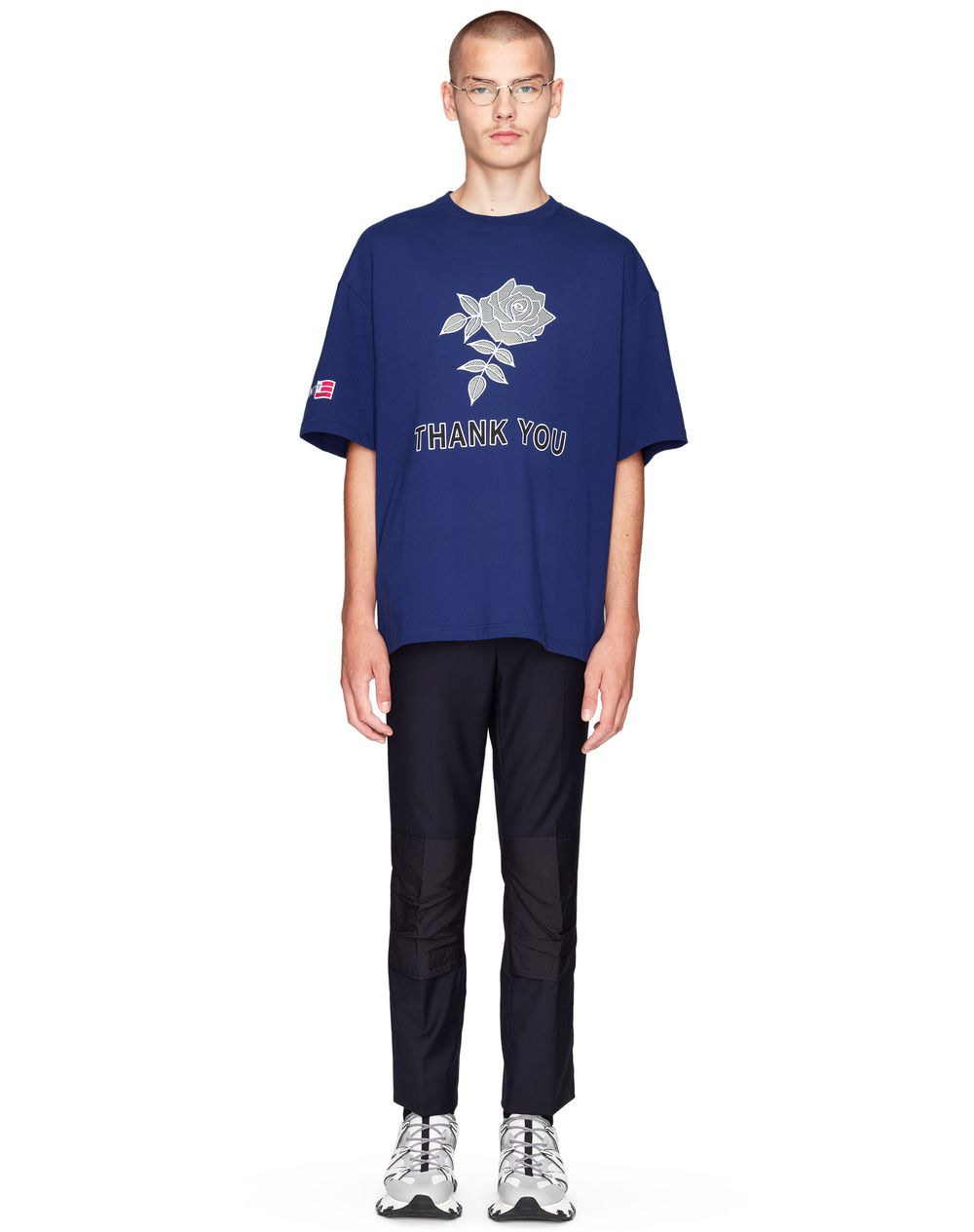 "T-SHIRT OVERSIZE CON STAMPA ""ROSE""     - Lanvin"
