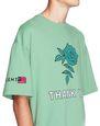 "LANVIN Polo e T-Shirt Uomo T-SHIRT OVERSIZE CON STAMPA ""ROSE""   f"