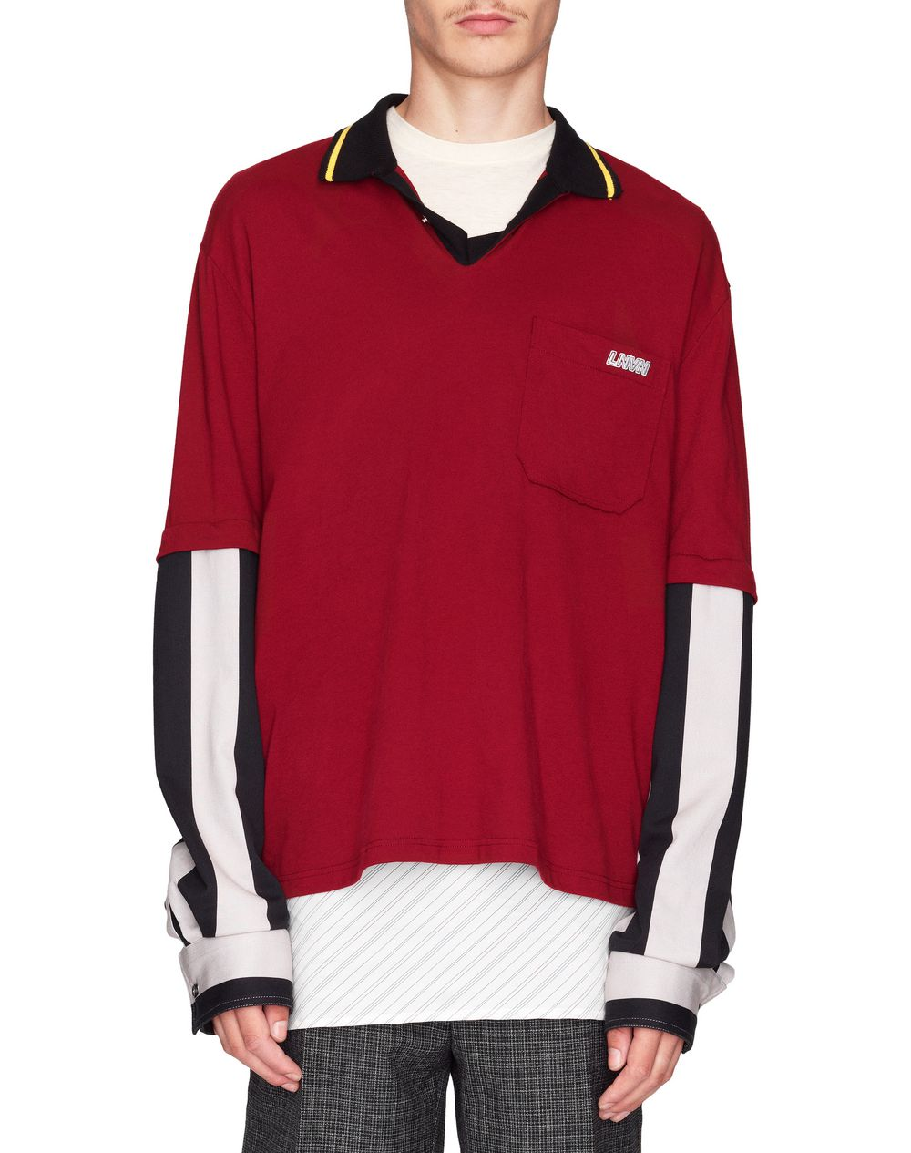 POLO WITH REMOVABLE SHIRT SLEEVES     - Lanvin