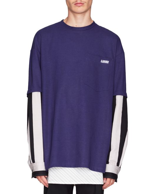T-SHIRT WITH REMOVABLE SHIRT SLEEVES - Lanvin