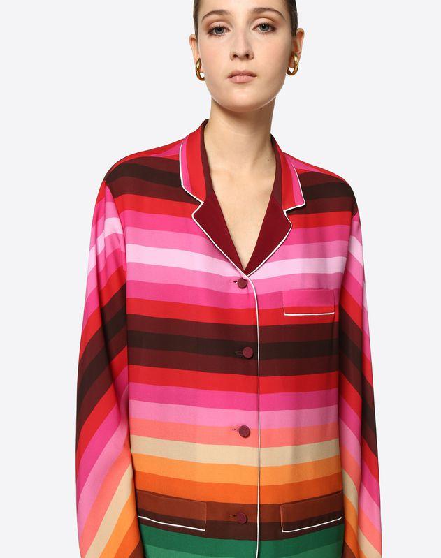 Bayadère Crepe de Chine Shirt