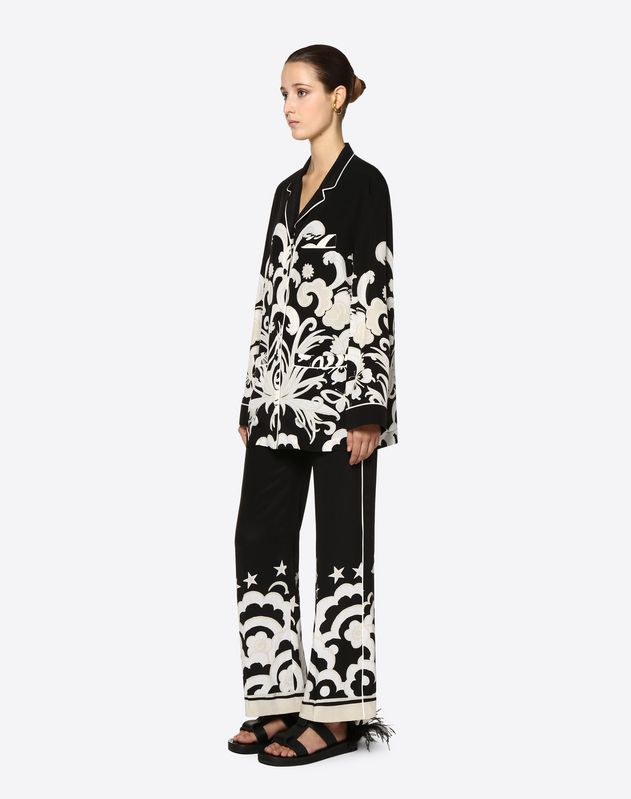 Camicia pajama in Crepe De Chine Fenice