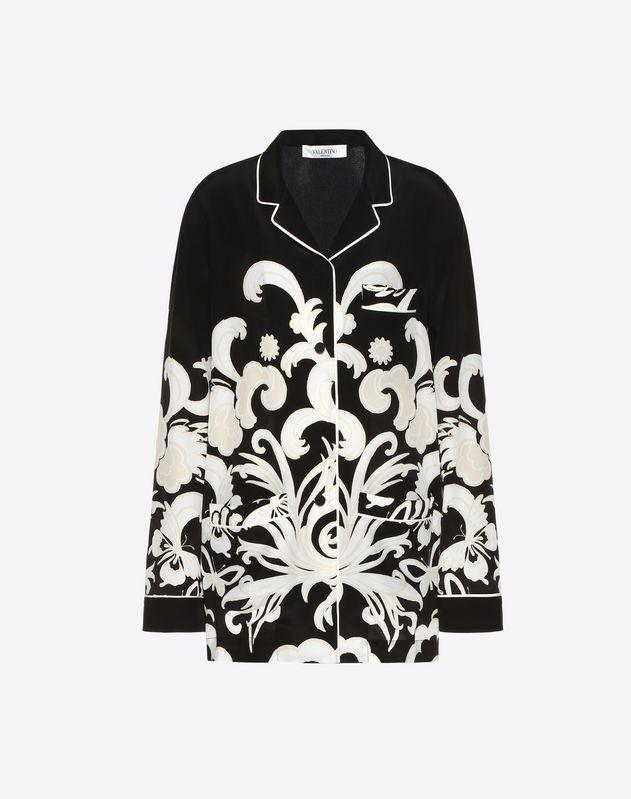 凤凰双绉睡衣式衬衫