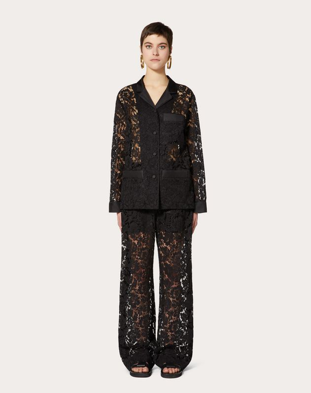 Heavy Lace Pajama Shirt