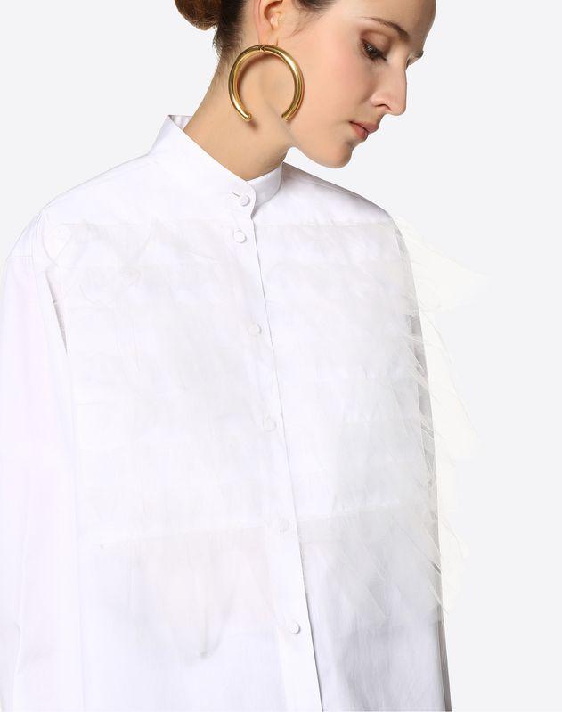 Tulle Poplin Shirt