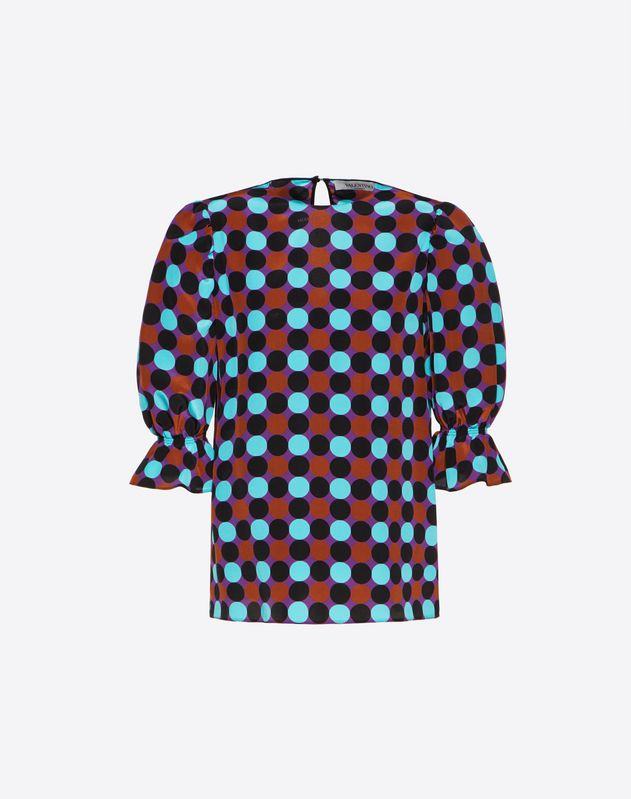 Colour Dots Crepe de Chine Top