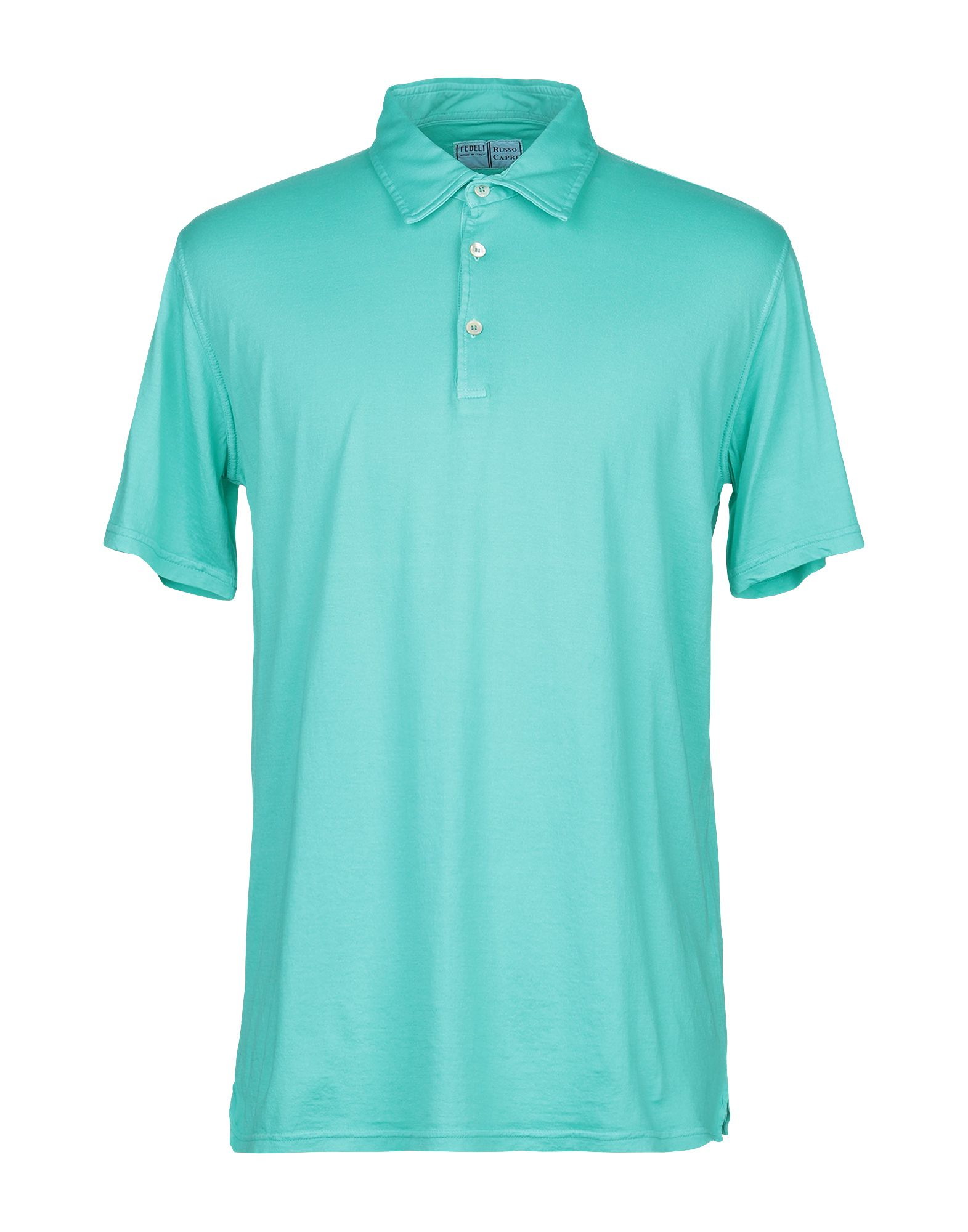 《期間限定セール中》FEDELI メンズ ポロシャツ グリーン 54 コットン 100%