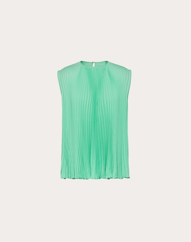 Georgette Pleated Top