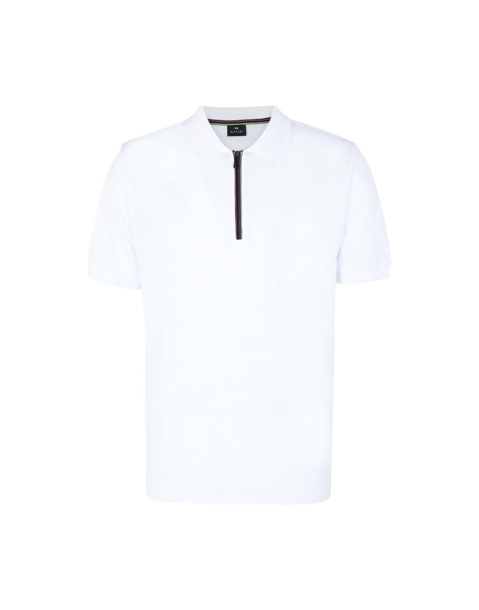 《セール開催中》PS PAUL SMITH メンズ ポロシャツ ホワイト S コットン 100%
