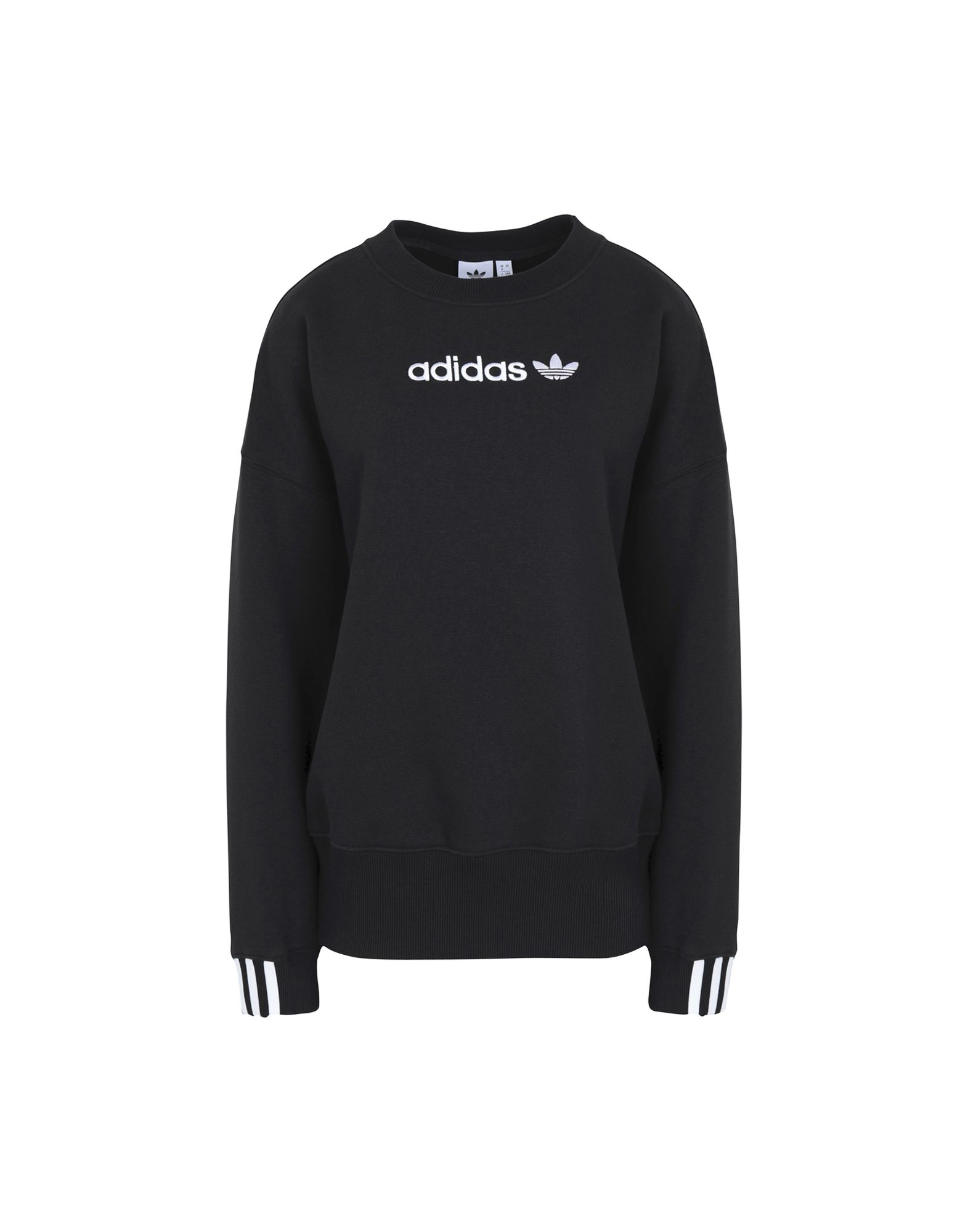 《セール開催中》ADIDAS ORIGINALS レディース スウェットシャツ ブラック 36 オーガニックコットン 77% / ポリエステル 23% Coeeze SWEAT