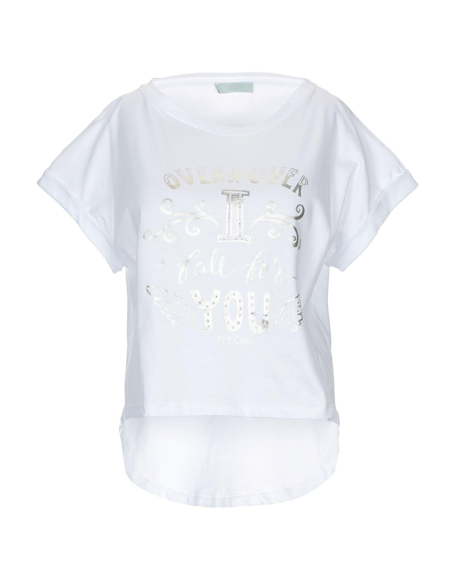 《送料無料》FLY GIRL レディース T シャツ ホワイト S コットン 100%