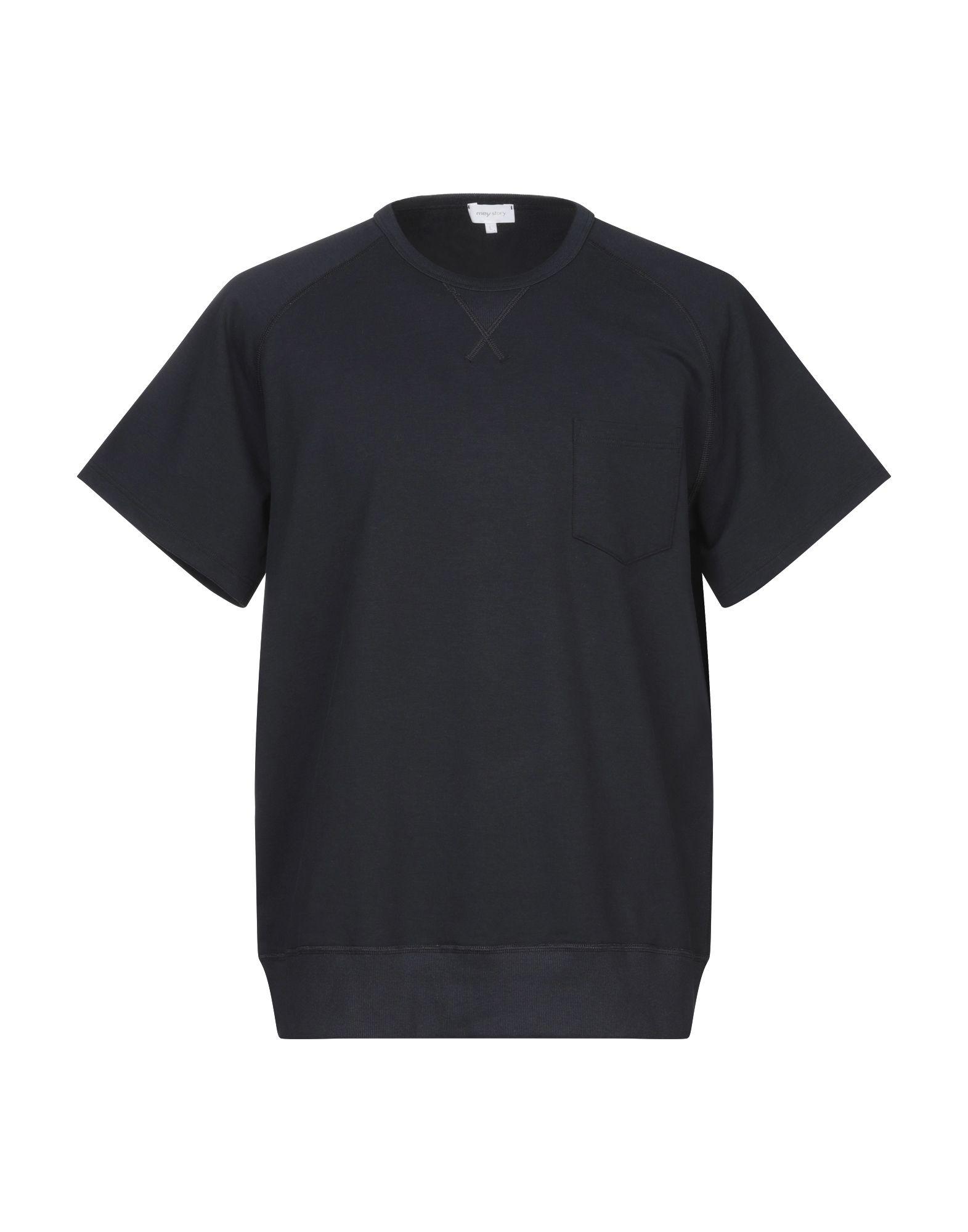 《セール開催中》MEY STORY メンズ スウェットシャツ ダークブルー L コットン 48% / テンセル 48% / ポリウレタン 4%