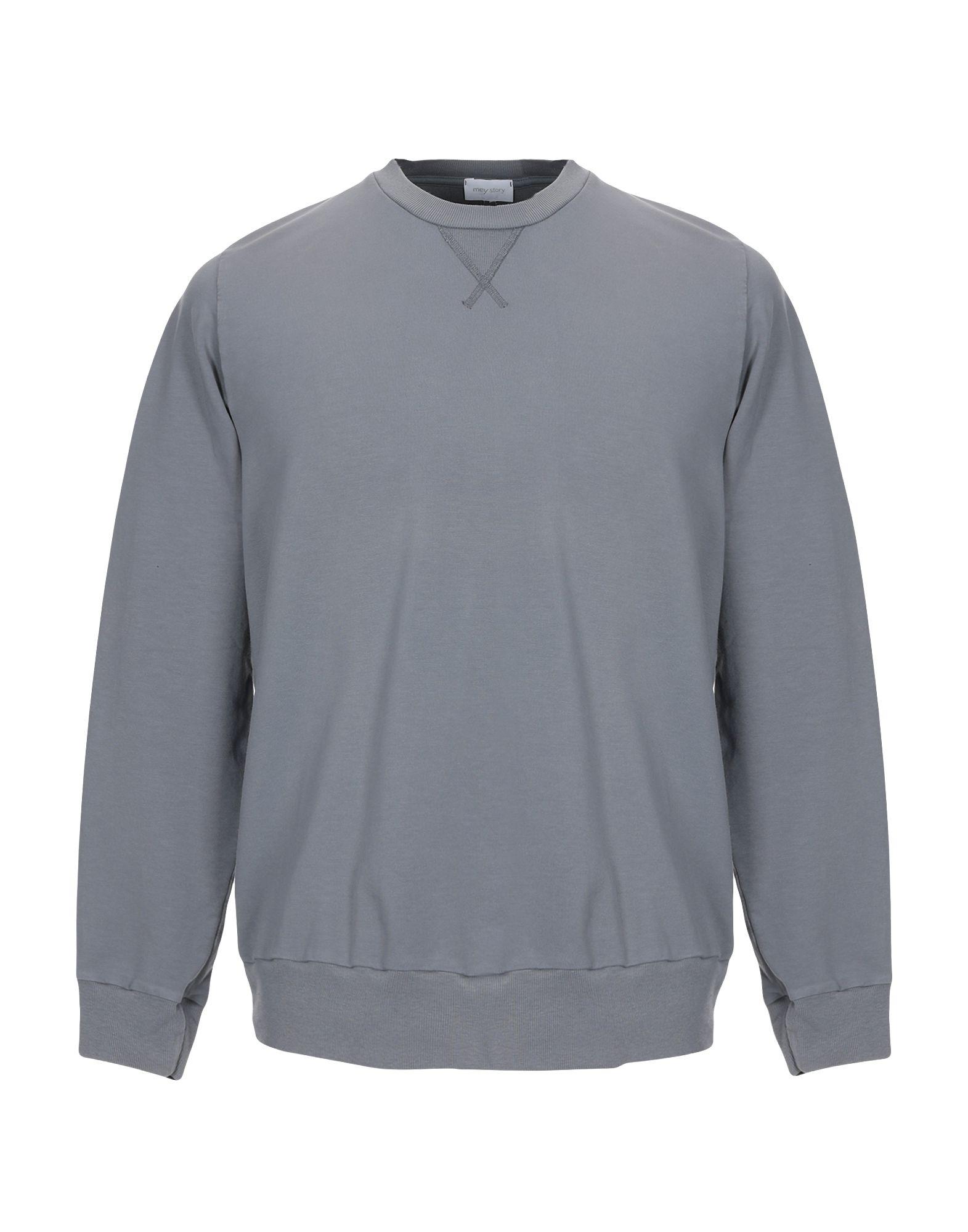 《セール開催中》MEY STORY メンズ スウェットシャツ 鉛色 M コットン 48% / テンセル 48% / ポリウレタン 4%