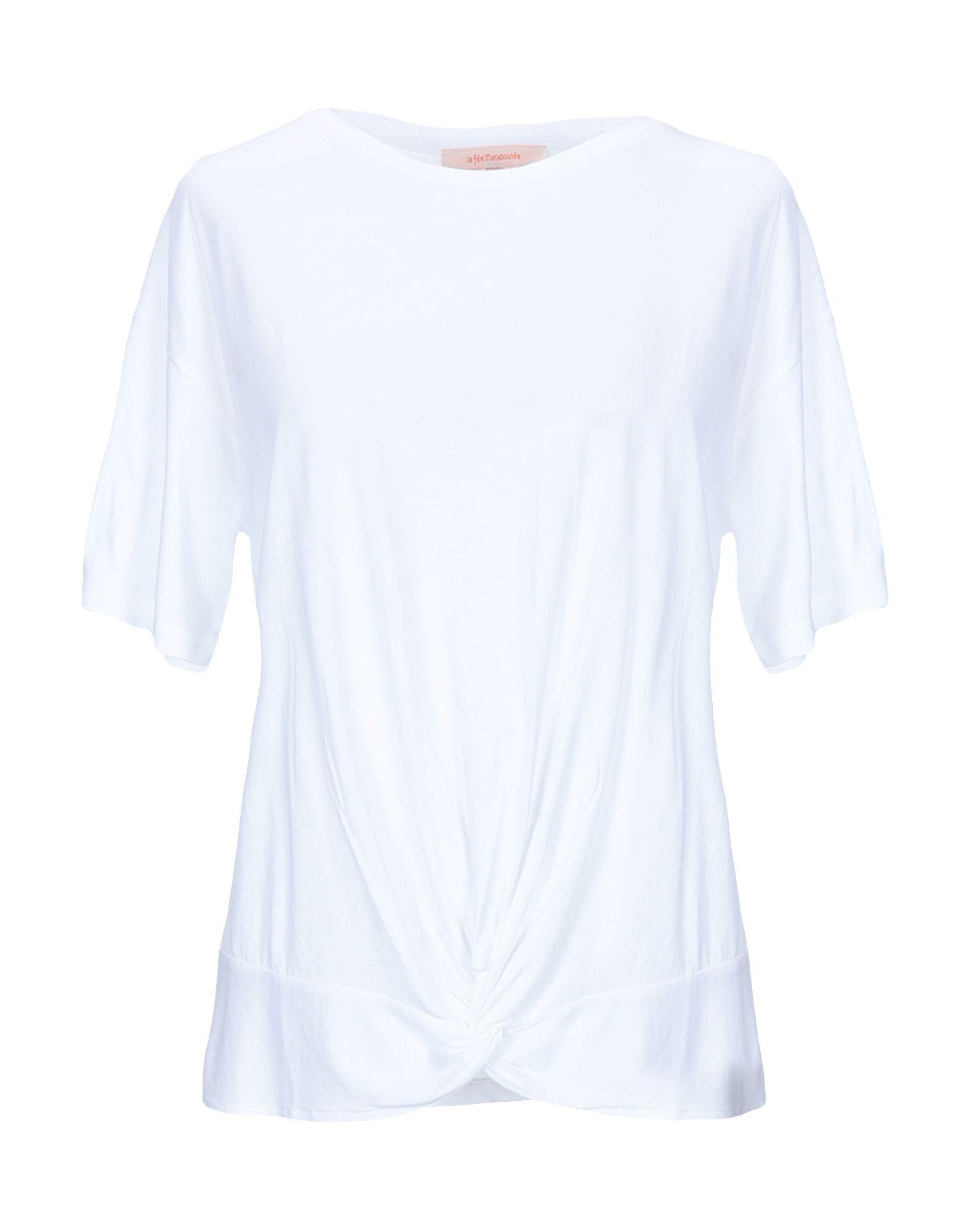 《期間限定 セール開催中》LA FEE MARABOUTEE レディース T シャツ ホワイト M テンセル 67% / コットン 33%