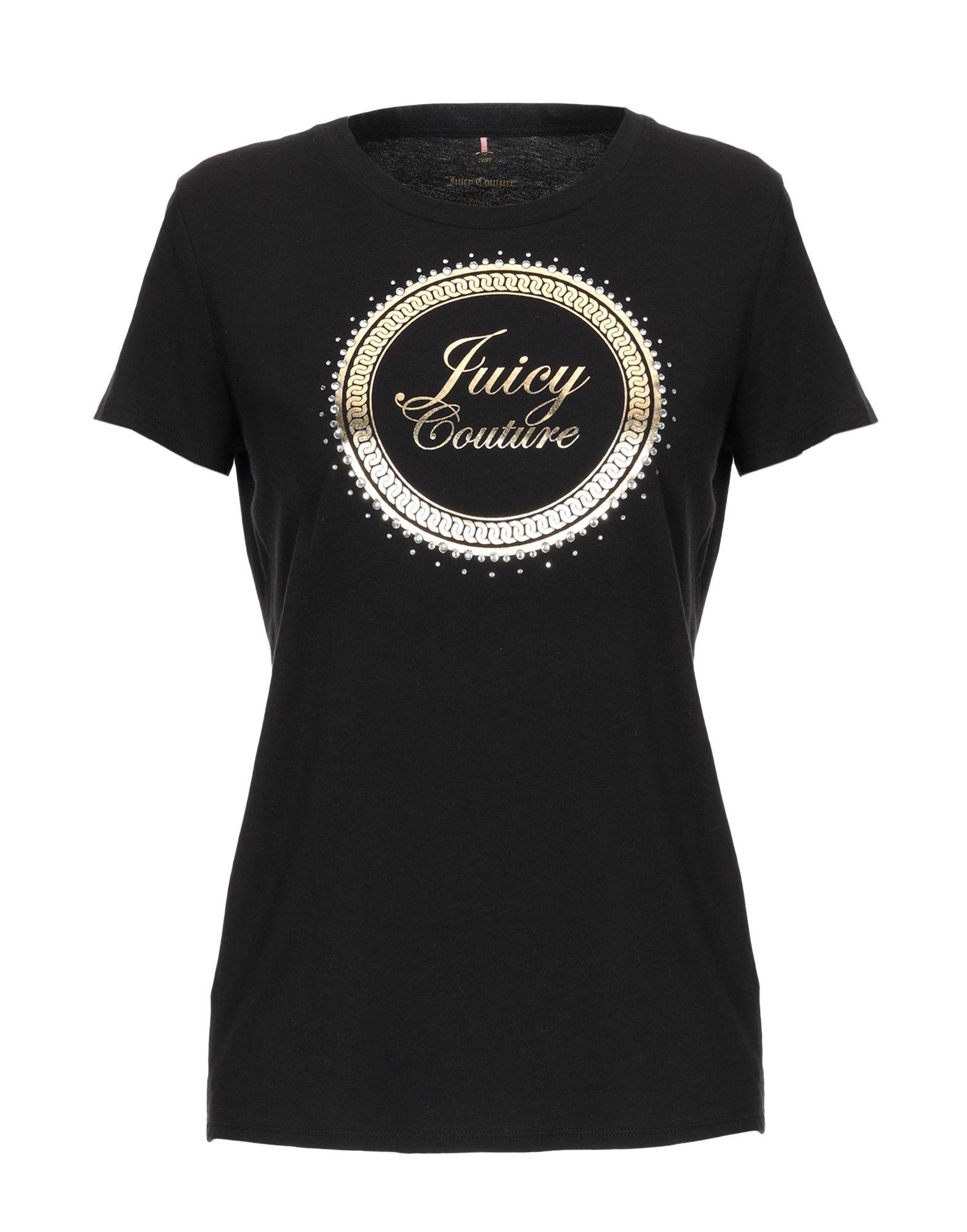 《送料無料》JUICY COUTURE レディース T シャツ ブラック M コットン 100%