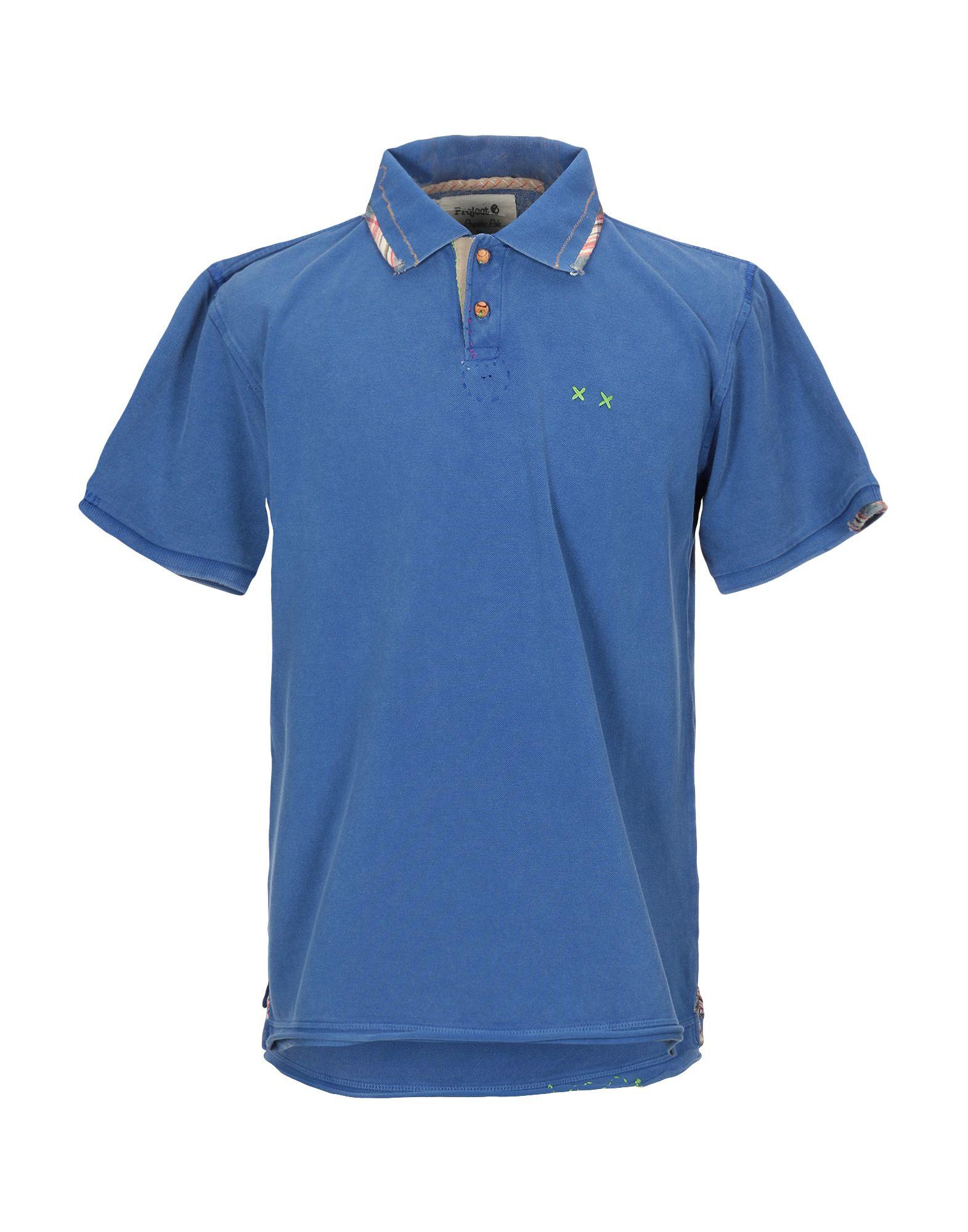 《セール開催中》PROJECT E メンズ ポロシャツ ブルー S コットン 100%