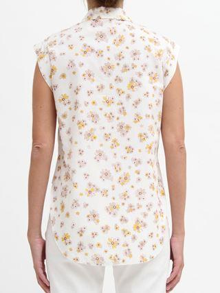 """Chemise sans manches en popeline à imprimé """"Summer flowers"""""""