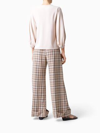 Pintuck blouse
