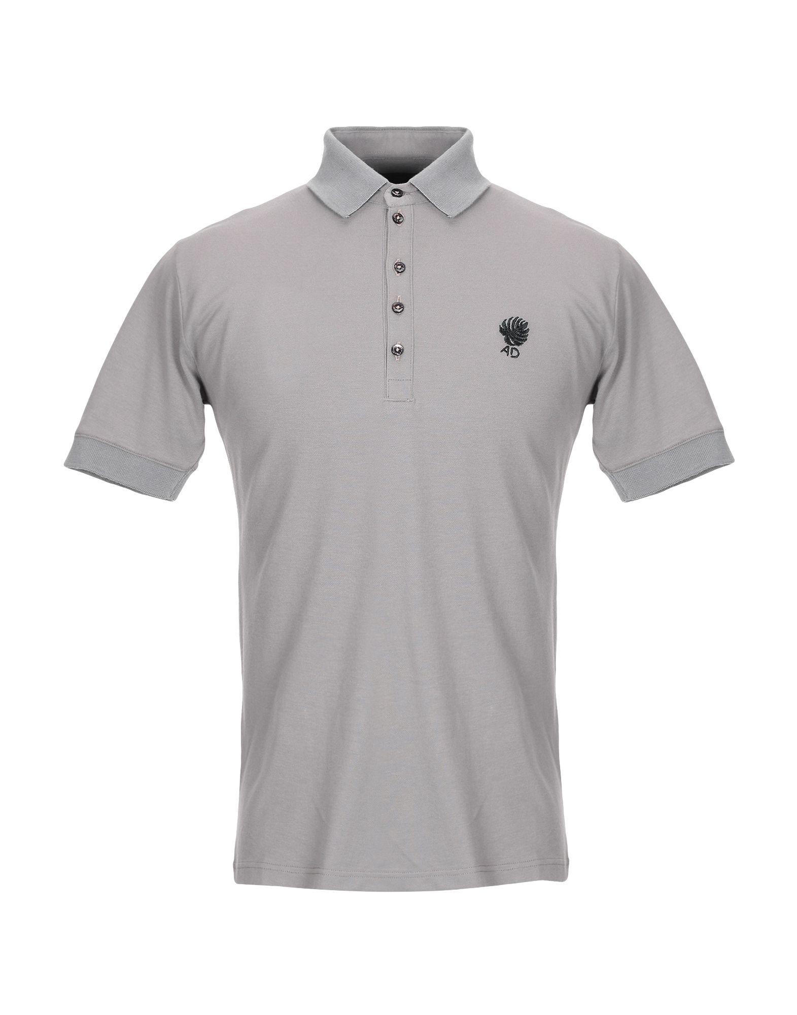《セール開催中》ALESSANDRO DELL'ACQUA メンズ ポロシャツ ドーブグレー M コットン 100%