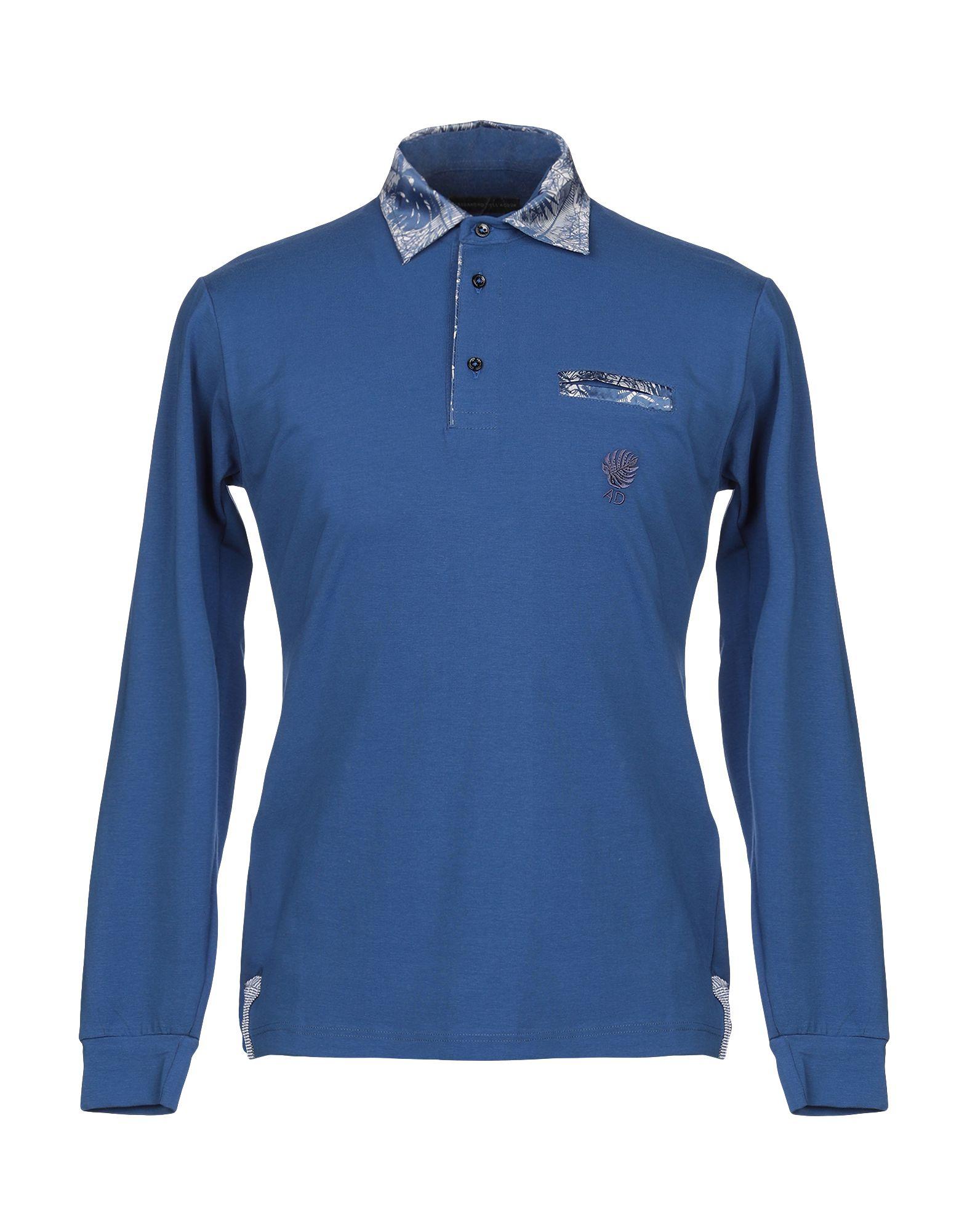 《セール開催中》ALESSANDRO DELL'ACQUA メンズ ポロシャツ ブルー M コットン 100%
