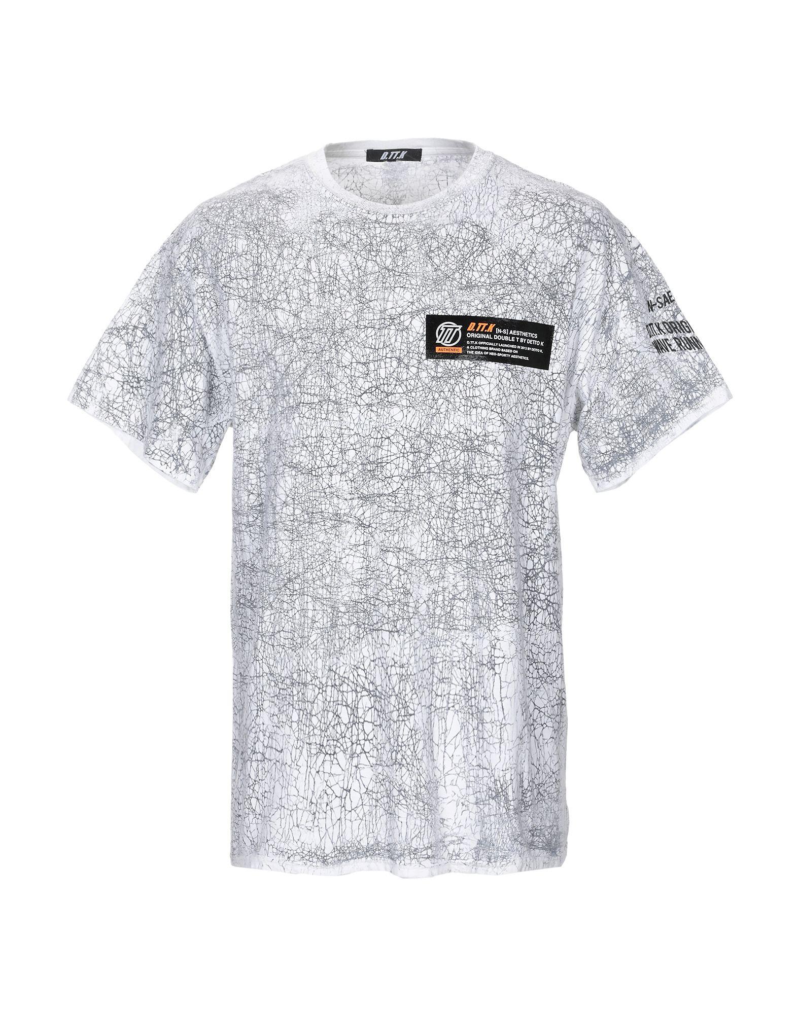 《期間限定セール中》D.TT.K メンズ T シャツ ホワイト L コットン 100%