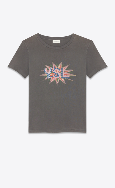 """YSL disco"" T-shirt"