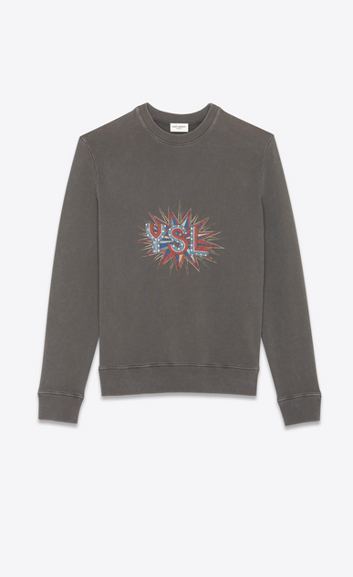 """YSL disco"" sweatshirt"