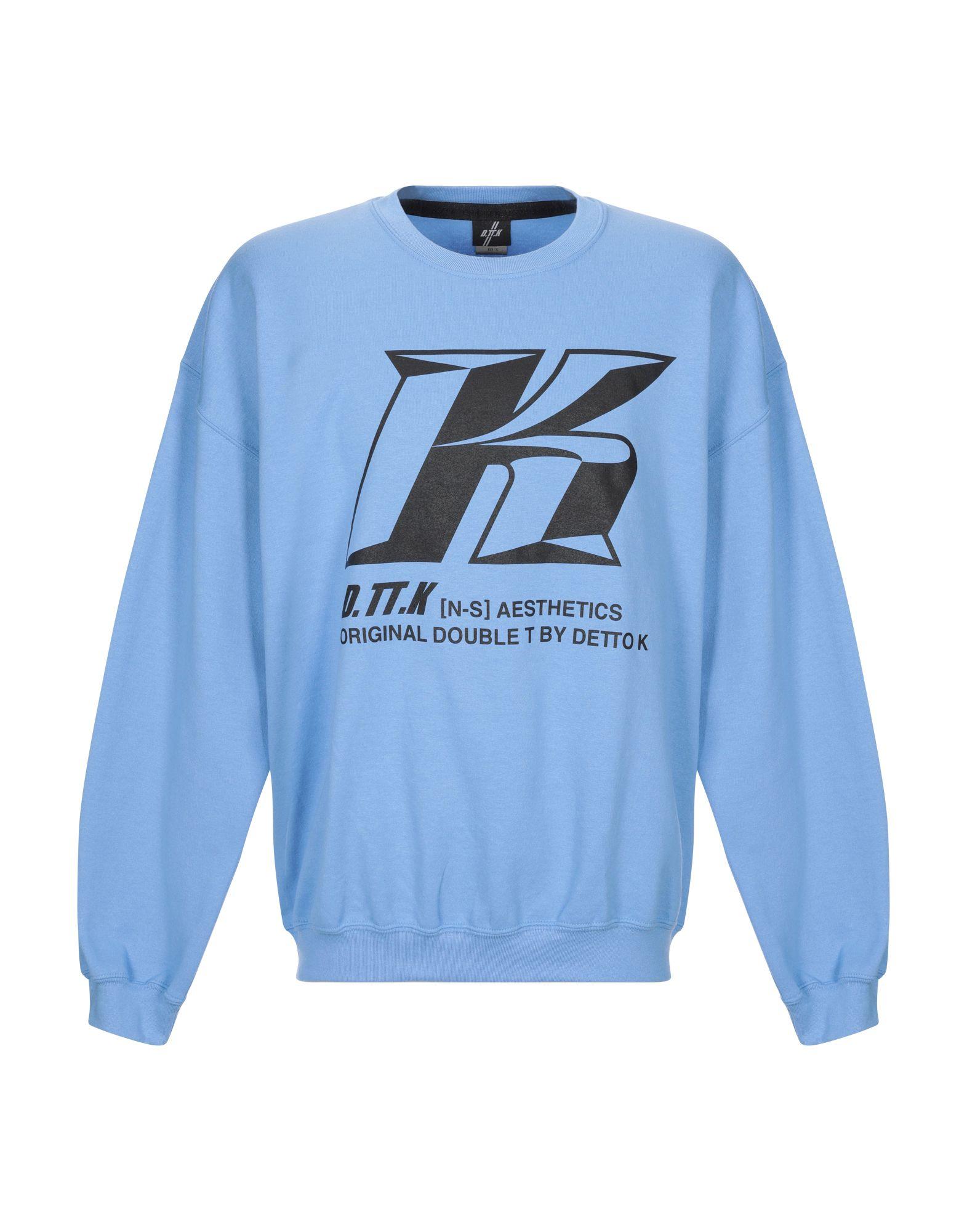 《期間限定セール中》D.TT.K メンズ スウェットシャツ スカイブルー XL コットン 100%