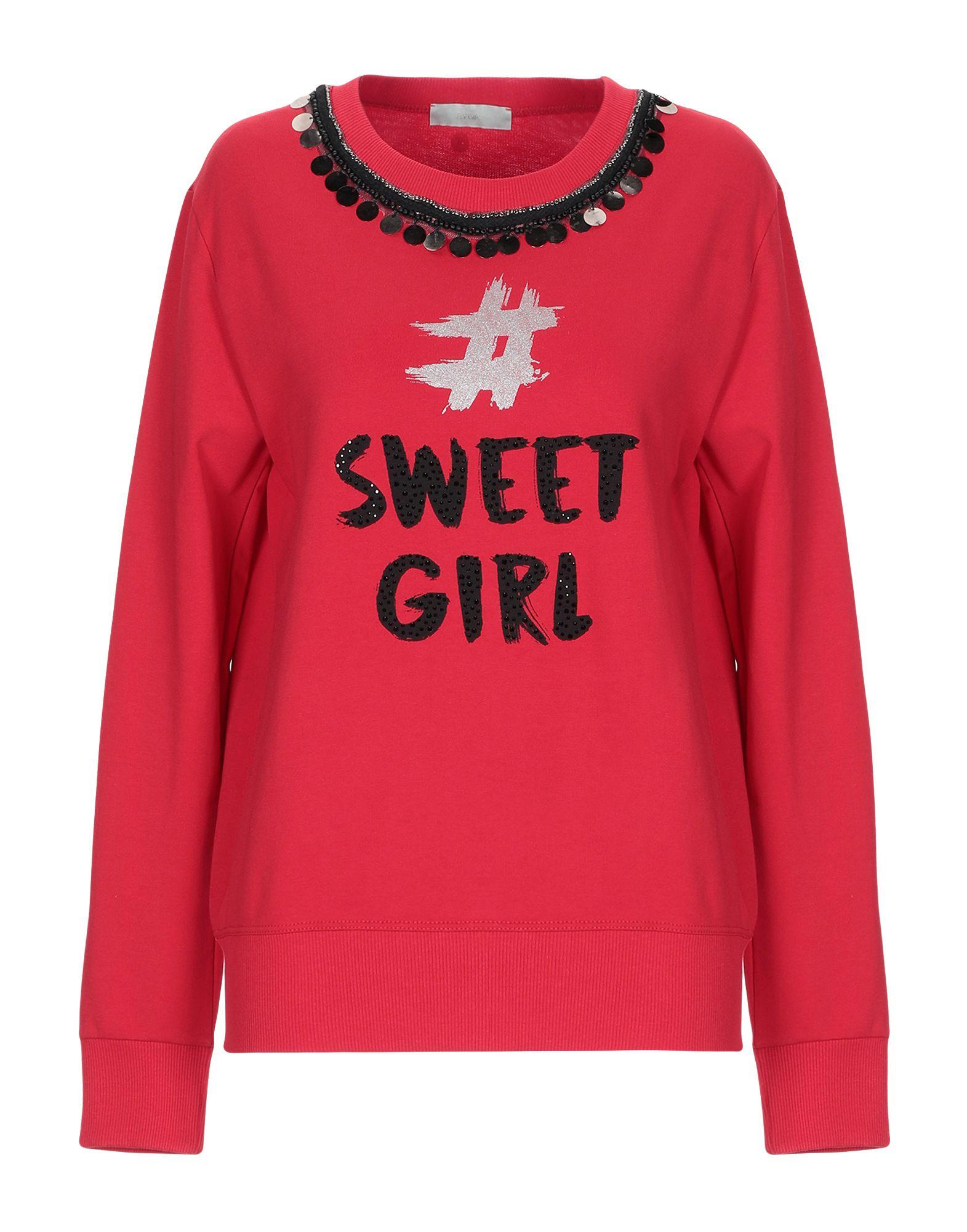 《送料無料》FLY GIRL レディース スウェットシャツ レッド XS コットン 100%