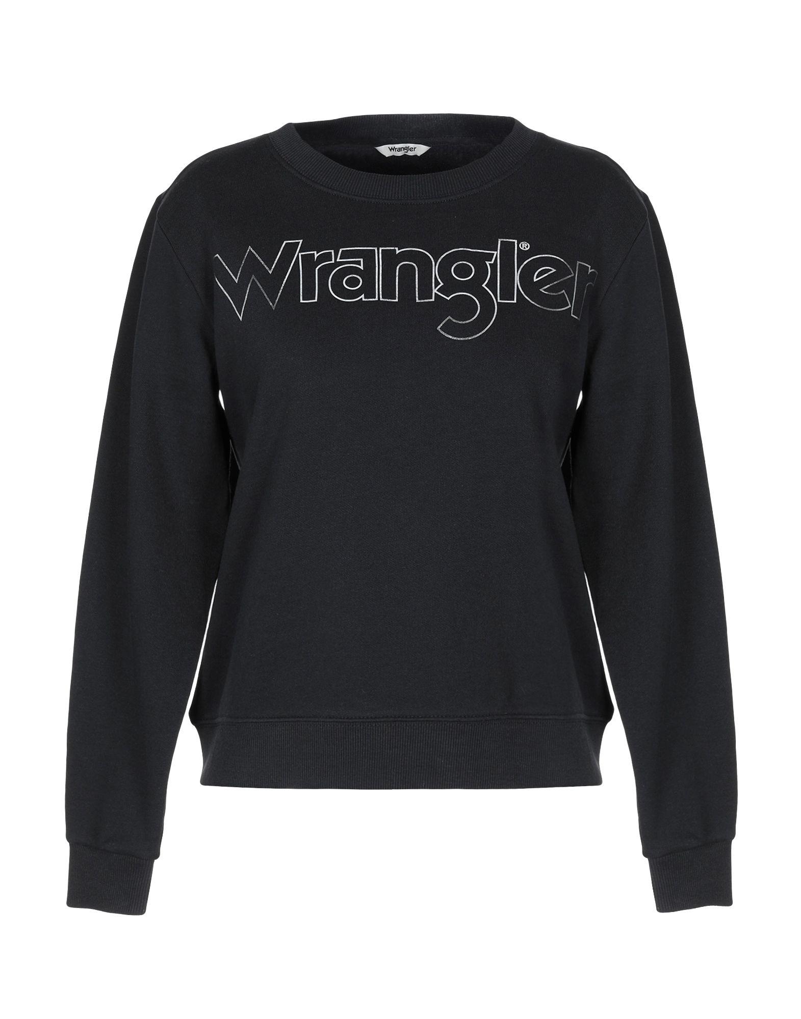 《セール開催中》WRANGLER レディース スウェットシャツ ブラック XS コットン 100%