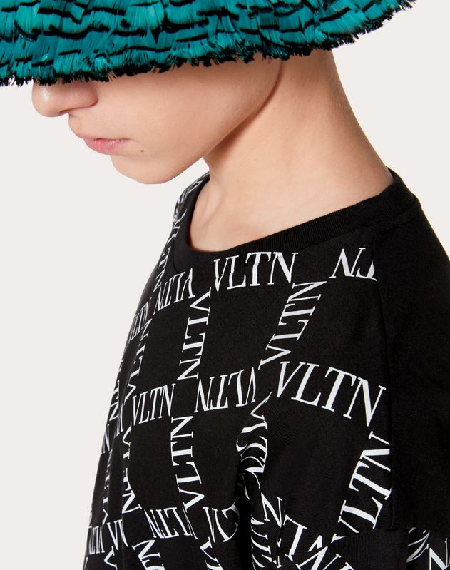 T-SHIRT WITH VLTN GRID PRINT
