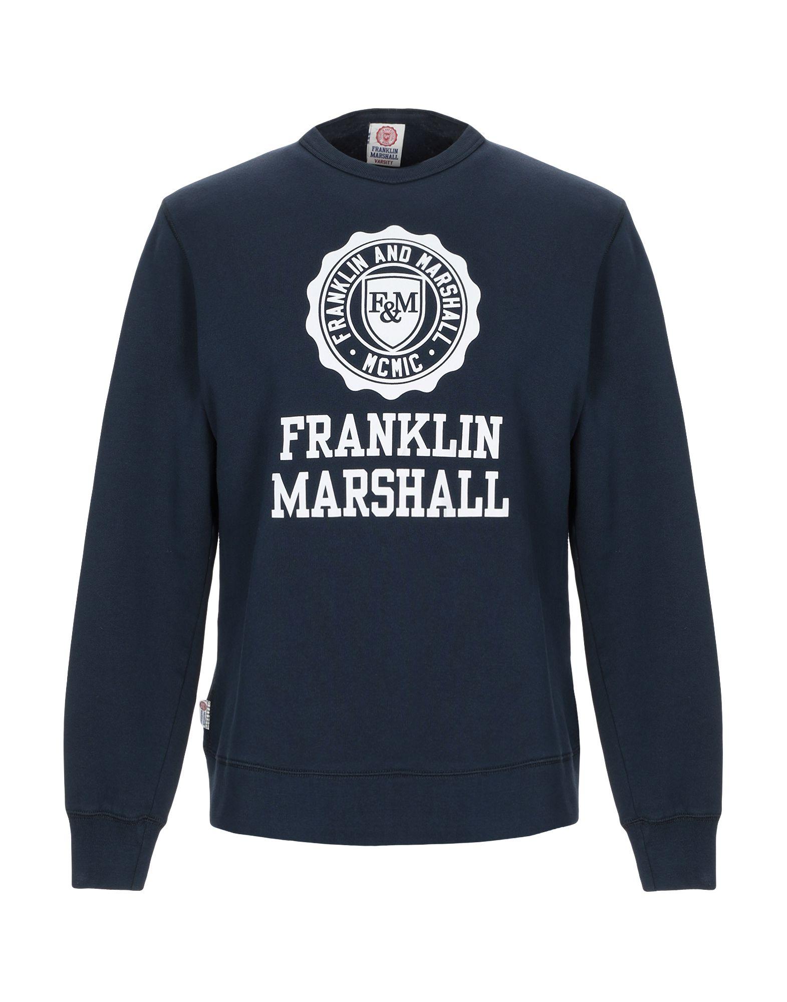 《セール開催中》FRANKLIN & MARSHALL メンズ スウェットシャツ ダークブルー XS コットン 100%