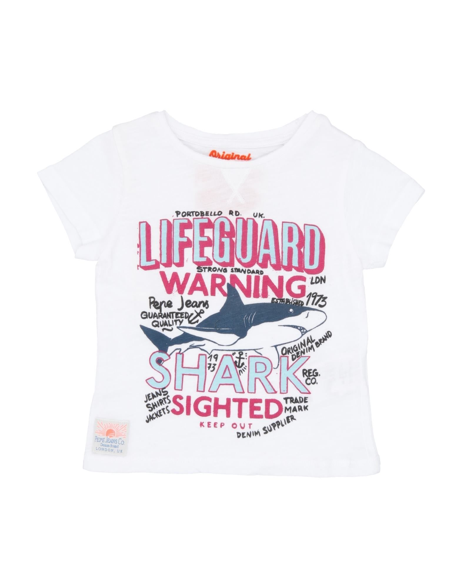 Pepe Jeans Kids' T-shirts In White