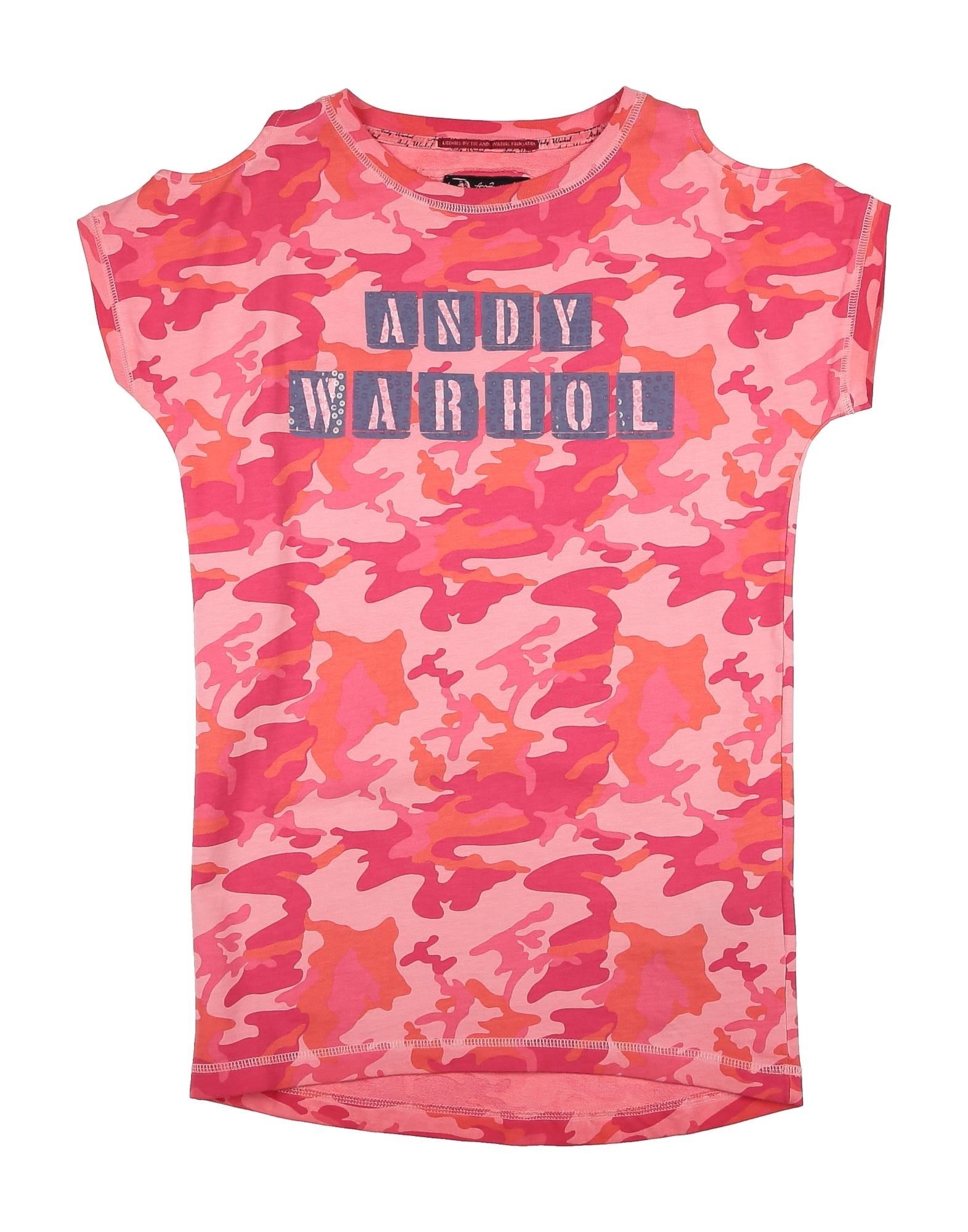 Andy Warhol By Pepe Jeans Kids' T-shirts In Coral