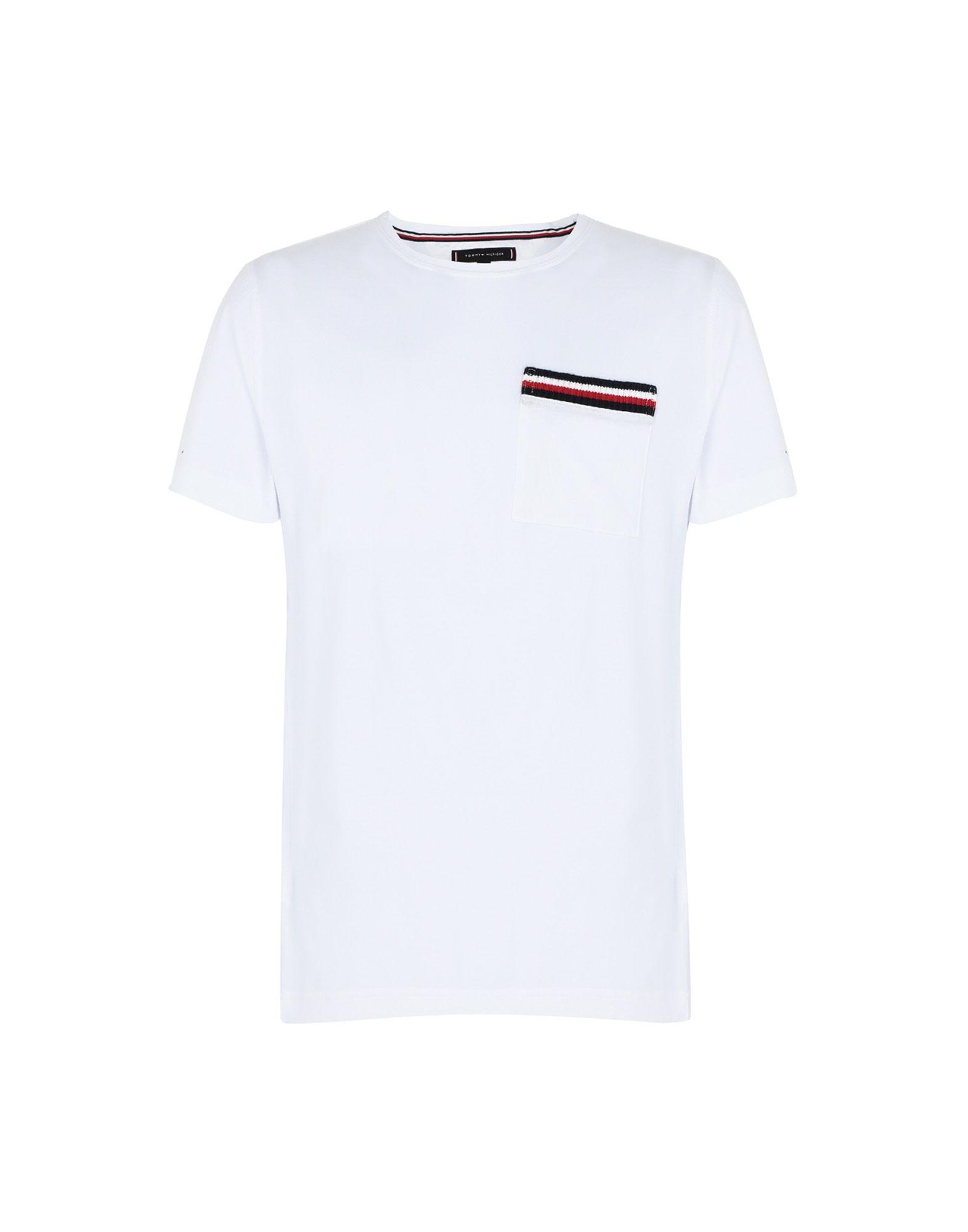 《送料無料》TOMMY HILFIGER メンズ T シャツ ホワイト S コットン 100% CORP POCKET TEE