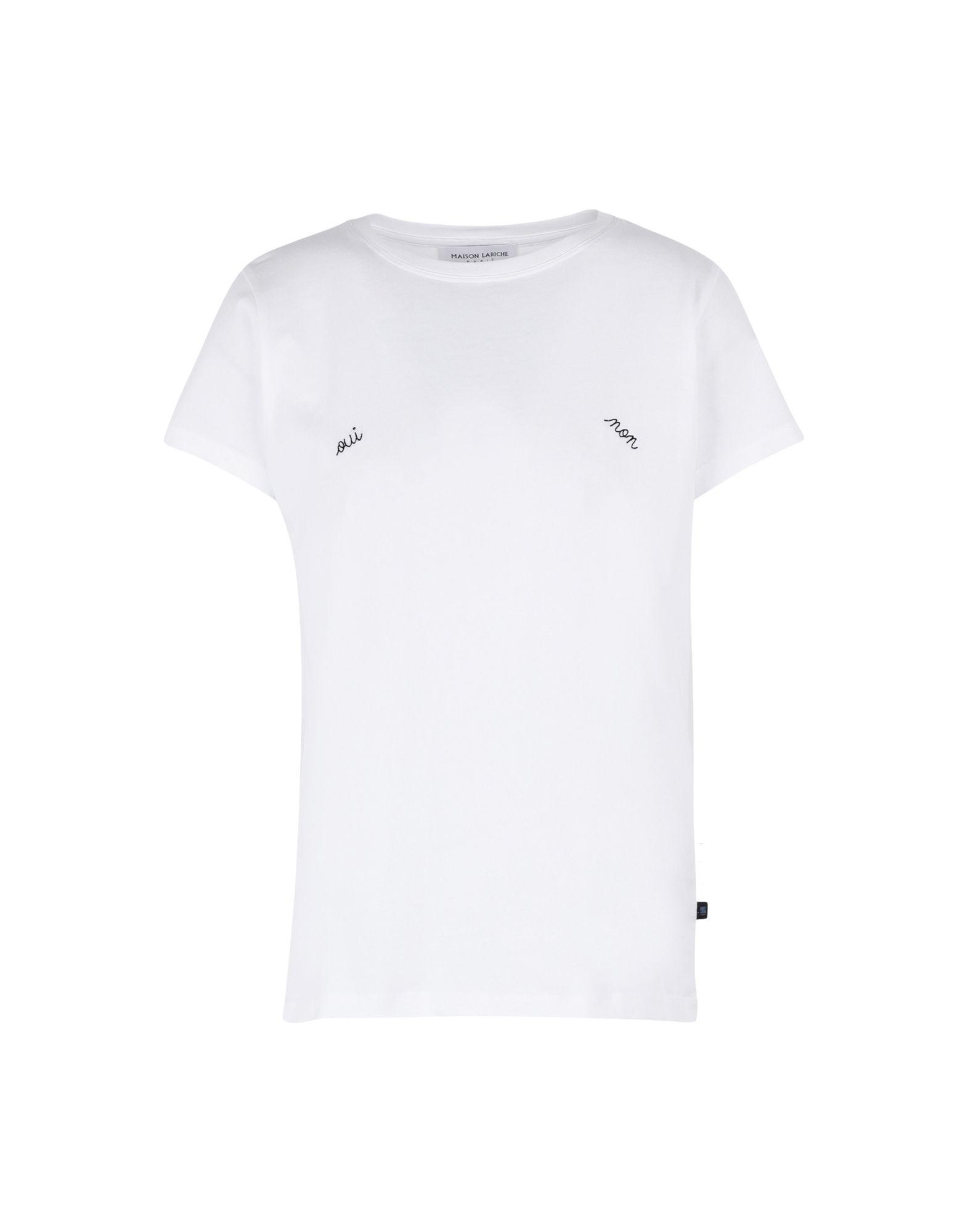 《期間限定セール中》MAISON LABICHE レディース T シャツ ホワイト XS コットン 100% BOYFRIEND TEE-SHIRT OUI NON