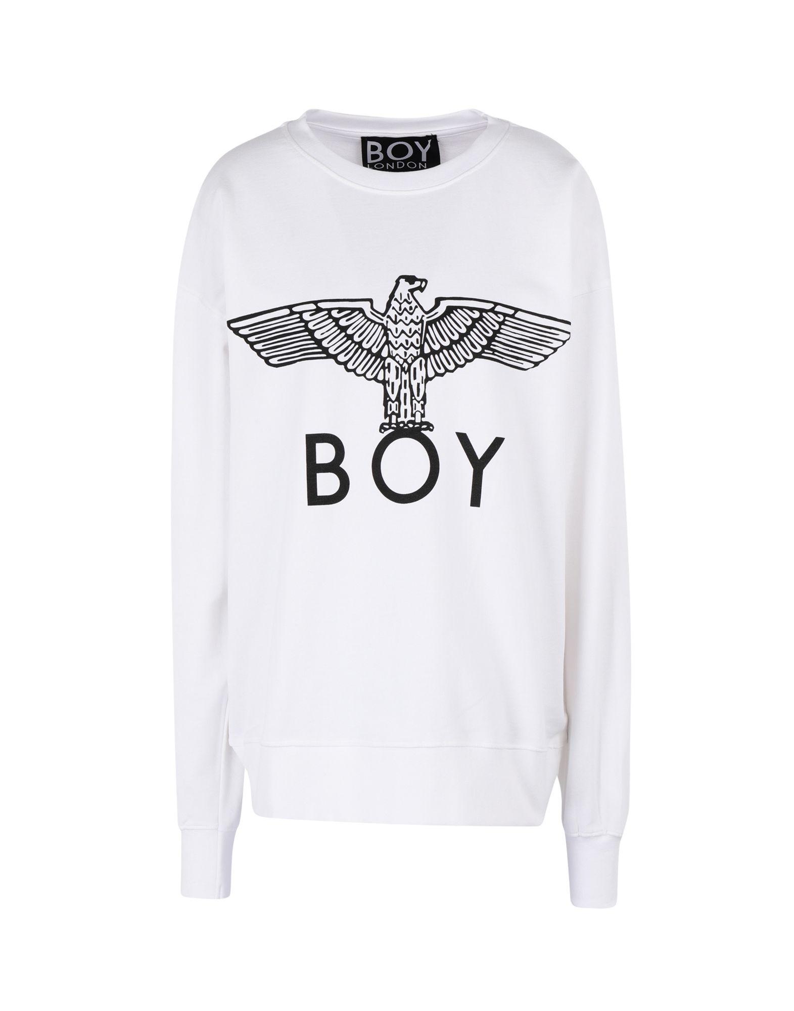 《セール開催中》BOY LONDON レディース スウェットシャツ ホワイト S コットン 100% BOY EAGLE SWEAT