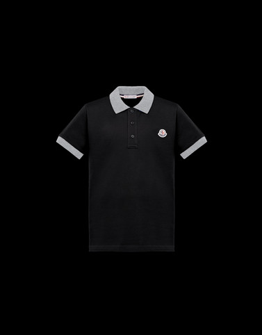 POLO SHIRT Black Junior 8-10 Years - Boy