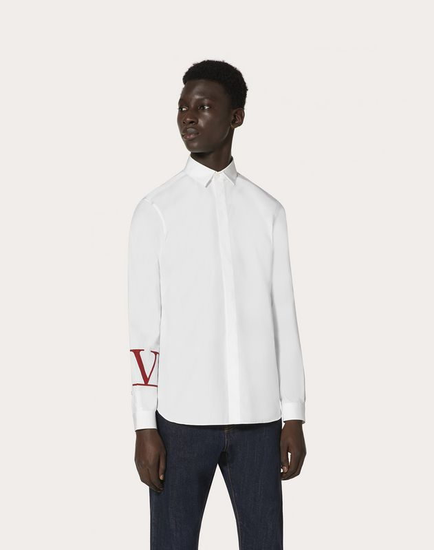 SHIRT WITH VLOGO PRINT